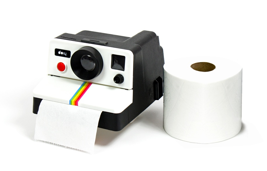 Polaroll Polaroid Camera Toilet Paper Holder
